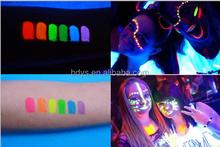 Invisible UV black light reactive neon body face paint 6color set