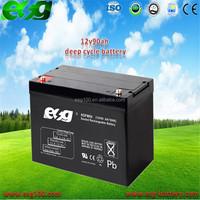 Dry battery Maintenance free battery 12v90ah selead lead acid battery