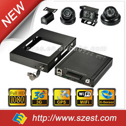 1080P digital video recorder and 8 digital cameras support G-sensor GPS/GNSS 3/4G Wi-Fi Car black box DVR