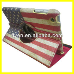 Flag Pattern for iPad Leather Case 360 Rotating Magnetic Stand Manufacturer Wholesale