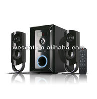 new product 2.1 spekaer home theater multimedia 2.1 speaker with remote,made in china
