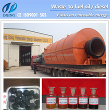 New technology for waste disposal, waste tire recycling to oil machine, waste tire pyrolysis plant