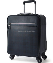 cheap price PU computer trolley suitcase 16'' travel cases classical design