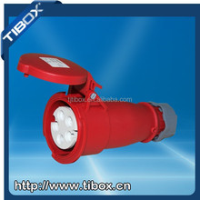 TIBOX 4-pin industrial power plug ip44 3p+n+e(5p) plug