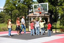Fixed Backboard Height Adjuster Basketball Stand