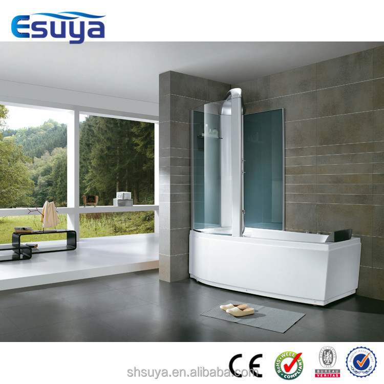 One person square hot tub walk in tub shower indoor hot for Shallow tub shower combination