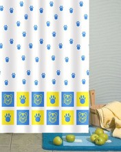 cat paw prints design polyester shower curtain,air curtain shower cabin,bath shower windows curtain
