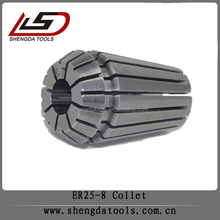 Max runout 0.01mm cnc tools accessories with standard DIN6499B er25 collet 8mm collets