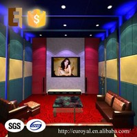 Wholesale Decorative Interior Soundproof 100% Polyester Fabric Panel for Home Theater