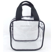Transparent Thick Clear PVC carry hand bag 12x12x6""