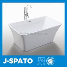 2015 Italy Design Tranditional Recumbent Novel Square Acrylic Walk In Bathtub JS-6820