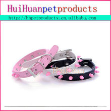 Cool spiked PU leather pet dog collar