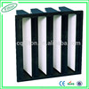 China Supplier High Efficiency 99.99% Well Condition Plastic Frame H12 V Bank Air Filter