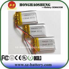 hot sale best price 3.7v 190 mah. batteries rechargeables