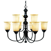 modern American style 2 tiers led uplights black chandelier lights hot new products 2016