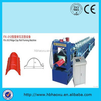 Aluminum/ Glazed Tile/ ridge cap Roof Roll Forming Machine