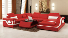 modern retail furniture,u shape leather sectional sofa,house apartment furniture