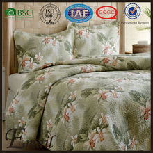 wholesale high quality custom factory bedspreads Hawaii floral print bedding set
