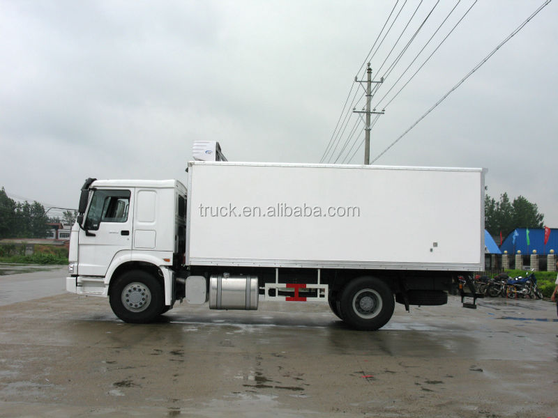sino 10 tons refrigerated truck, sino 10 tons cooling room truck, sino 10000 kg food truck