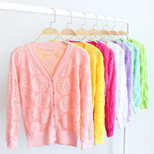 Online shopping top selling products ladies lace cardigan plus size korean latest design sexy ladies cardigan