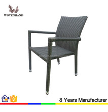 Hot sale Rattan wicker outdoor stackable chair for restaurant used