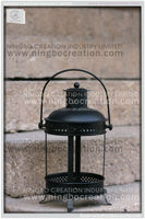 Wholesale Antique metal Garden lantern with holder, Metal Candle Lantern for Outdoor Decorative