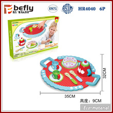 Cute teapot cake wooden kitchen toy for kids play