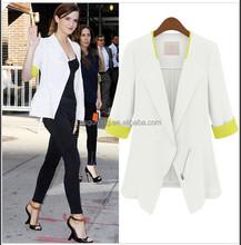 2015 New Women Ladies Formal Solid Slim Suit Blazer Coat Jacket
