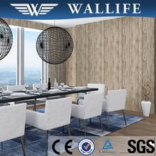 ZR10306 modern style 3d wooden vinyl wallpaper