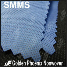 SMS nonwoven fabric for medical use with anti-alcohol propertie