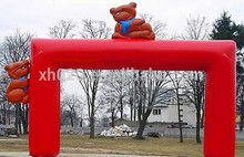 Outdoor bear welcome inflatable wedding archway