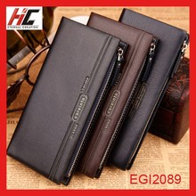 wholesale clutch purses leather wallet with chain for men personalized fashion coin packaging mobile phone case