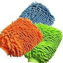 Plush terry microfiber chenille car wash mitt cleaning glove