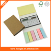Paper cover customized logo mini calculator with sticky notepad with clip