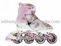 aggressive pink retractable running inline roller skate kids brake, mesh