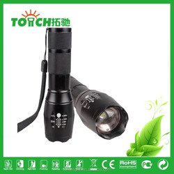 hot xm-l t6 2000lumens zoomable aaa battery light led flashlight