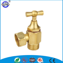 manual right brass angle stop valve with long stem