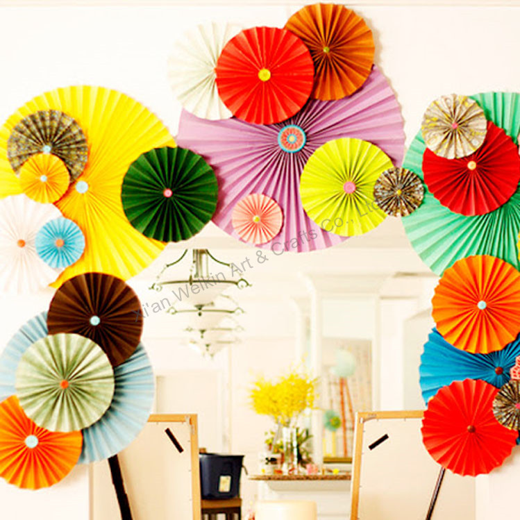 Paper decorations wall hanging paper fan view wall hanging paper paper fan2g mightylinksfo
