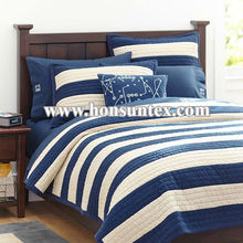 Made in China boy good quality stripe printing quilted kid quilt / kid beds / children bedspread