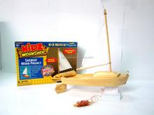 Giáo dục 3d lắp ráp jigsaw puzzle, gỗ Tự làm thuyền mô hình