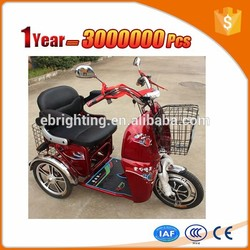 Differential motor tricycle mobility scooter with canopy