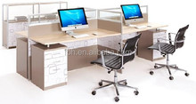4 person workstation desk office cubicle workstation (FOH-JT2B)