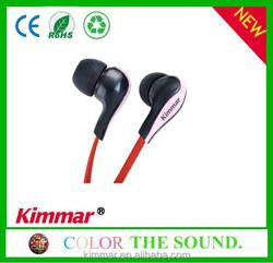 High quality plastic in ear earphone headphone