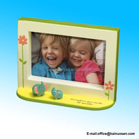Baby & Kids 4 X 6 Picture Frame with Elephant Figurines