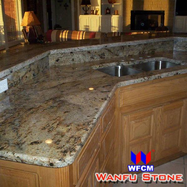 Verde Ubatuba Granite kitchen Countertop Custom Beveled Edge