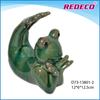 Ceramic frog animal figurine for decoration