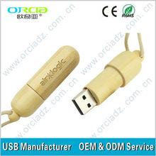 popular business gifts wooden usb flash disk OEM logo