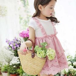 ta1327 summer kids wear short sleeve cotton children frocks designs