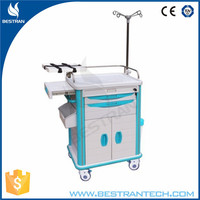 China BT-EY006 hospital modern crash cart emergency trolley defibrillator hospital emergency trolley equipment