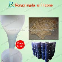 caucho de silicona para la fabricación de moldes